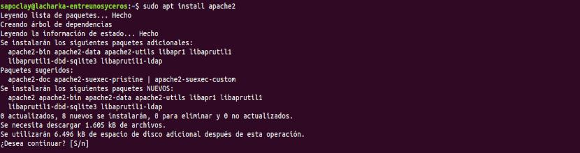 instalar apache2 en Ubuntu