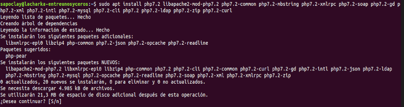 instalar php 7.2