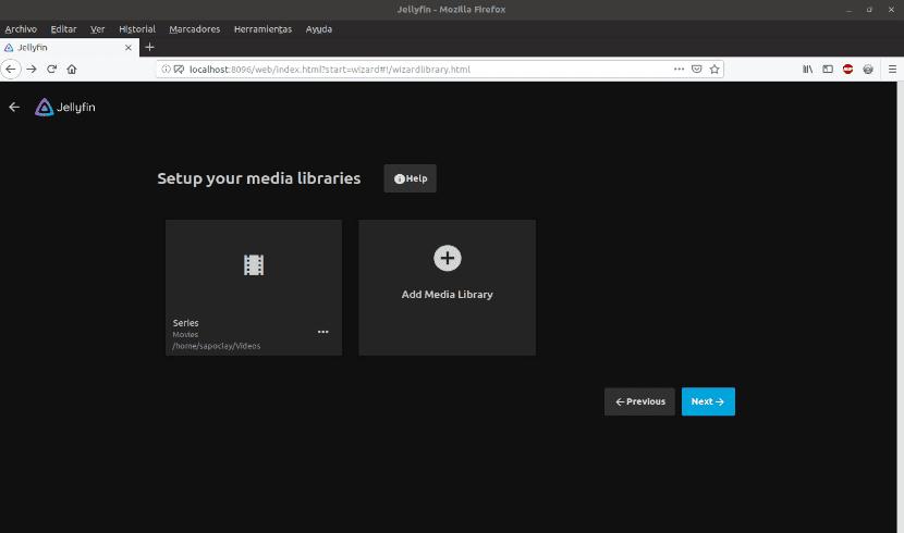 Seleccionar diferentes carpetas en el servidor de medios
