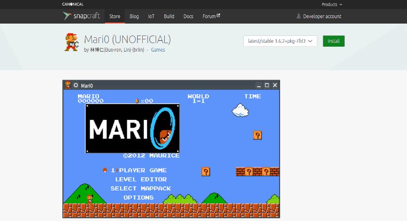 Mari0 en snapcraft