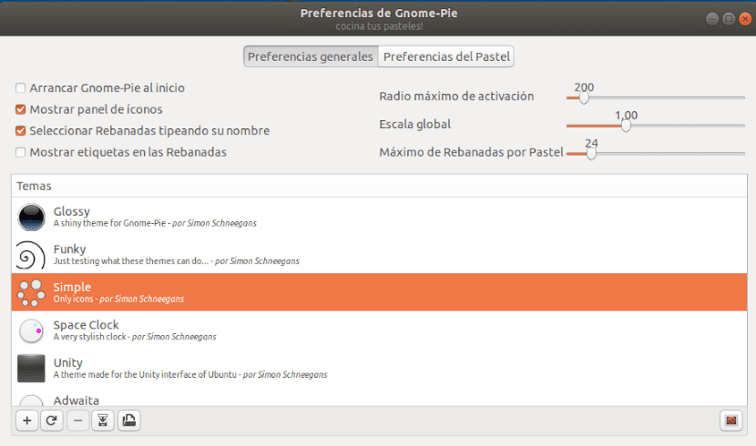 preferencias de gnome-pie