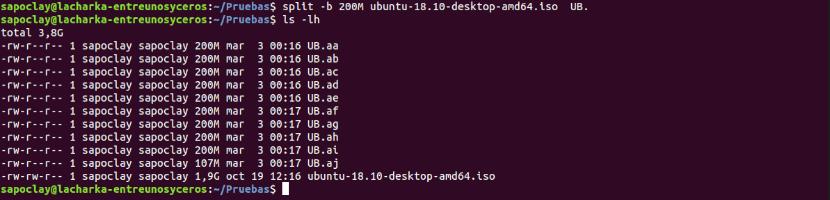 split archivo ISO
