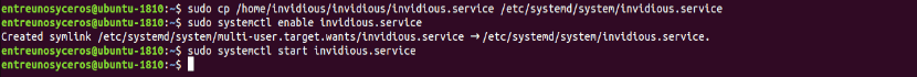 systemd invidious service