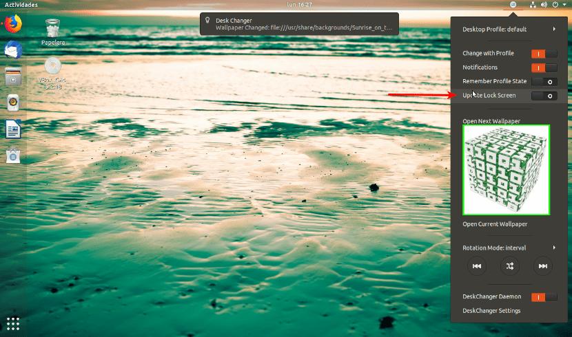update lock screen desk changer