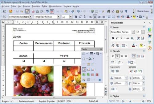 Writer en OpenOffice