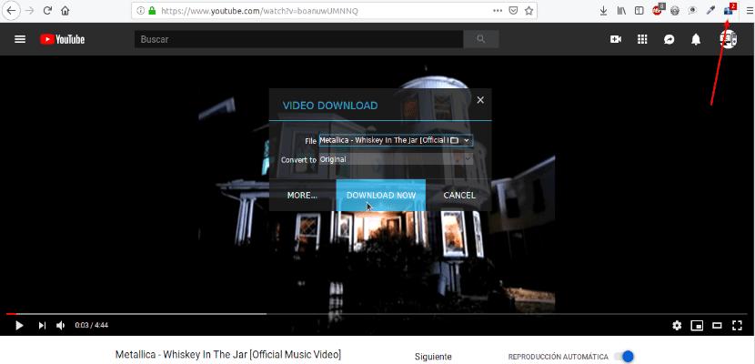 XDM descarga vídeo desde Firefox