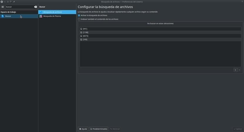 Desactivar indexado de archivos en Kubuntu