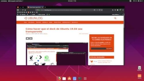 Dock centrado en Ubuntu 19.04