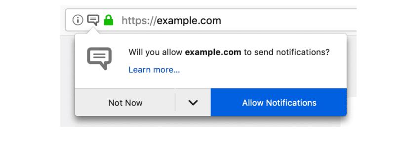 Firefox planea añadir un bloqueador de notificaciones intrusivo y la
