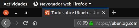 Firefox sin barra de título