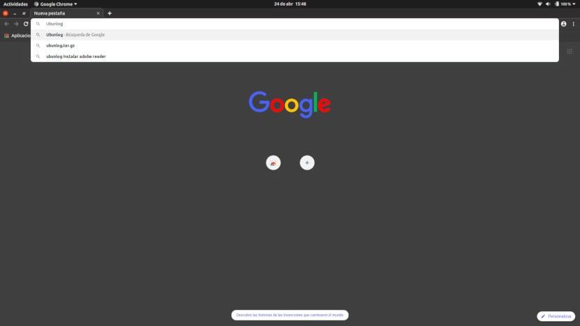 Modo oscuro en Chrome 74