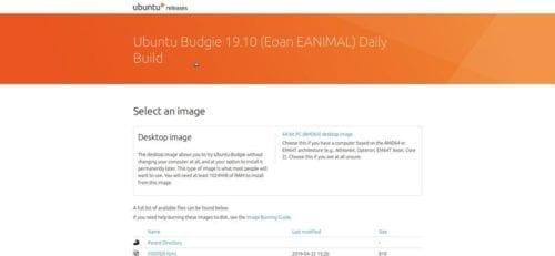 Ubuntu 19.10 Eoan ANIMAL, concretamente Ubuntu Budgie