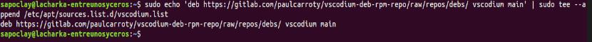 añadir repositorio para instalar VSCodium