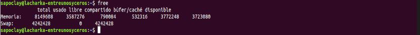 ver la memoria usando el comando free