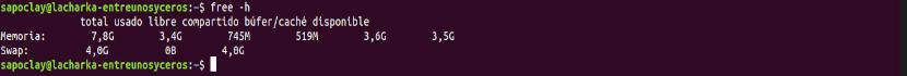 ver la memoria RAM expresada en GB