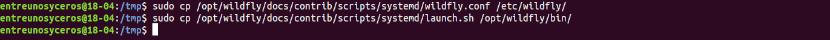copiar los archivos de configuración de este servidor de medios