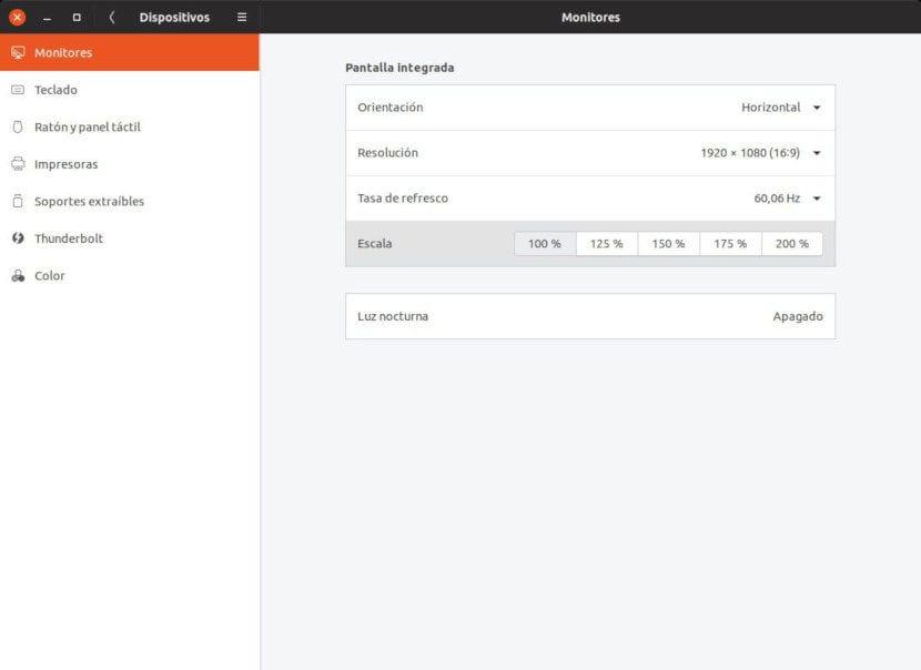 Fractional Scaling en Ubuntu 19.04