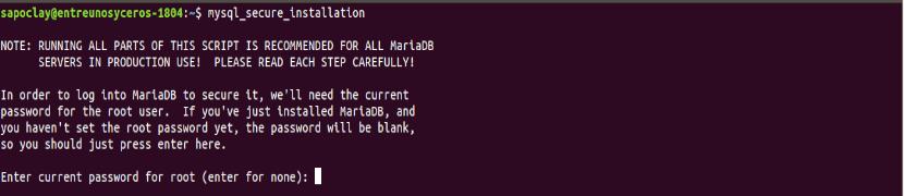 establecer password root mariadb