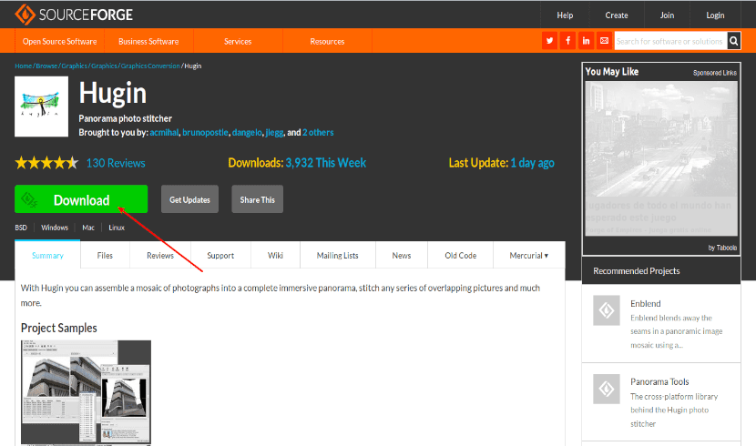 hugin descarga código fuente
