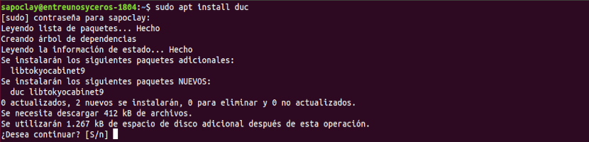instalar herramienta en Ubuntu