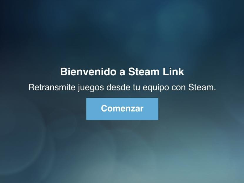 Comenzar configuración de Steam Link