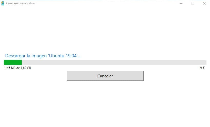 Descargando la última versión de Ubuntu en Hyper-V