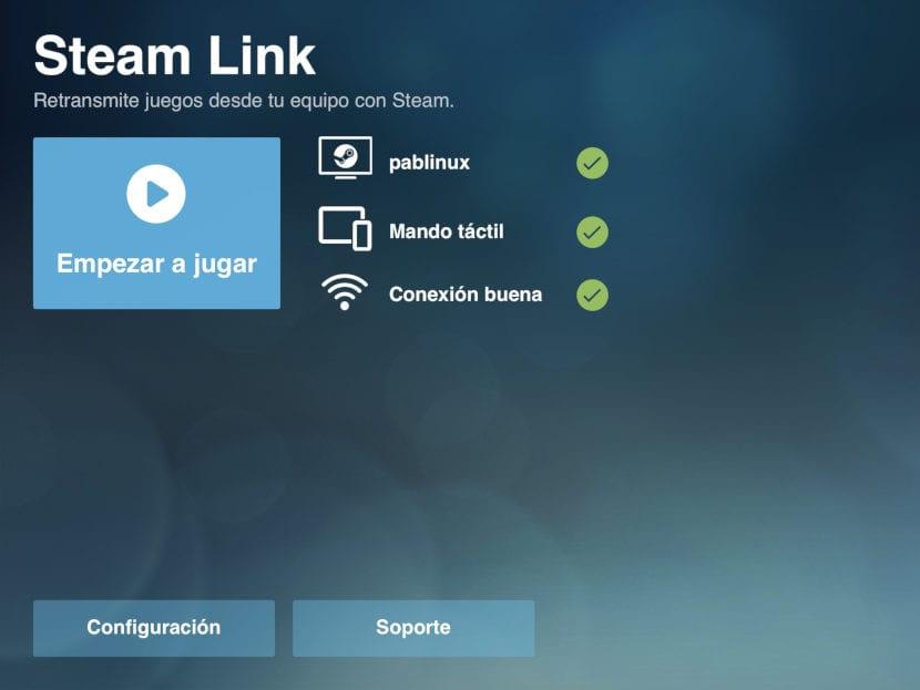 Empezar a jugar en Steam Link