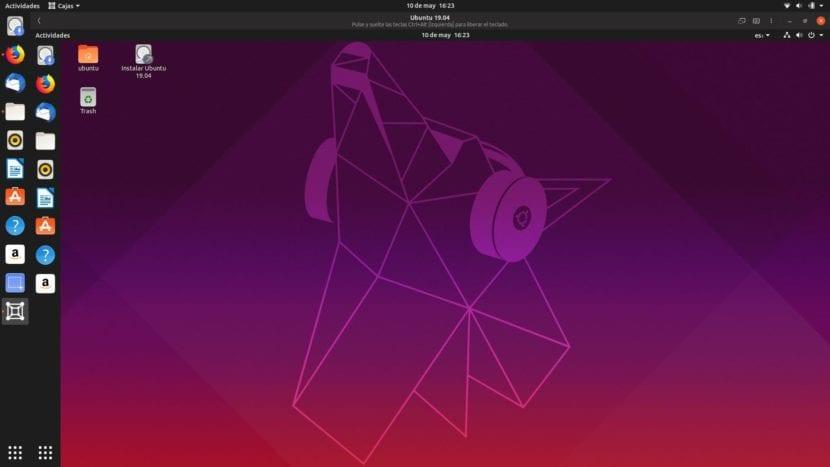 Ubuntu en Ubuntu en GNOME Cajas