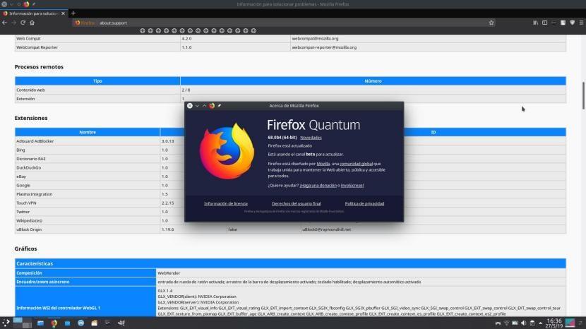 WebRender en Firefox 68
