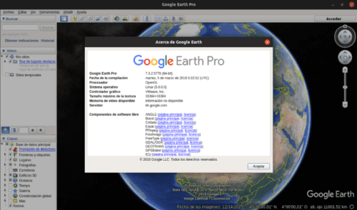 about instalación de Google Earth Pro en Ubuntu 19.04