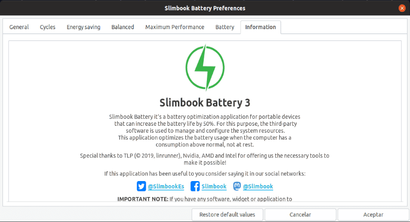 about slimbook battery 3