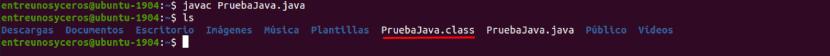 compilación de ejemplo java