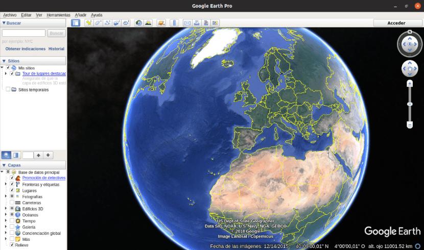 google earth pro funcionando en Ubuntu 19.04