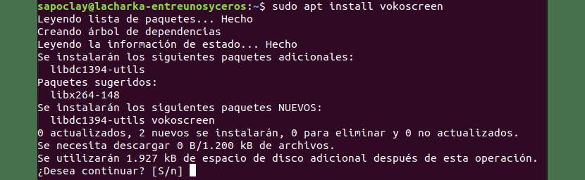 Instalación de Vokoscreen usando apt