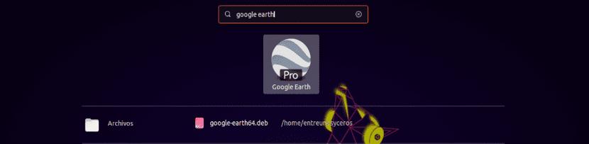 lanzador de google earth en Ubuntu 19.04