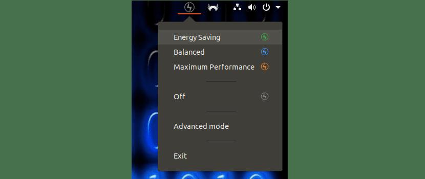 opciones de energía de Slimbook Battery 3