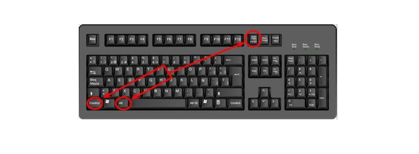 Realizar capturas de pantalla mediante atajo de teclado Ctrl+Alt+Imprimir pantalla