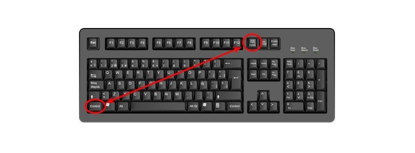 Realizar capturas de pantalla mediante atajo de teclado Ctrl+Imprimir Pantalla