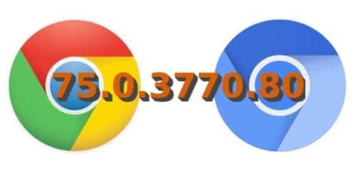 Chrome y Chromium 75.0.3770.80