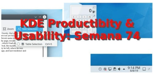 KDE Productivity & Usability semana 74