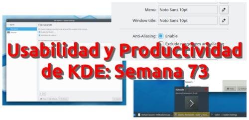 Usabilidad y productivad de KDE: Semana 75
