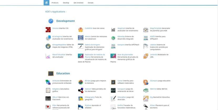 Web de KDE Applications