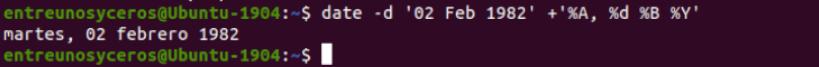 date string fecha personalizada