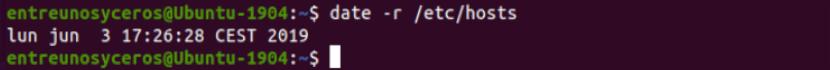 fecha de modificación de un archivo