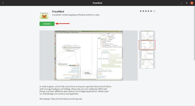 Instalación desde la opción de software de Ubuntu