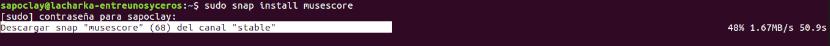 Instalar MuseScore como snap