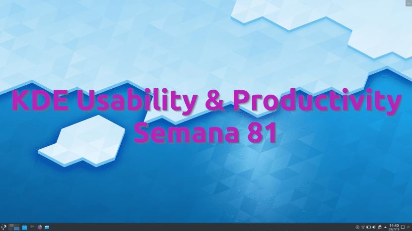 KDE Usability & Productivity, semana 81