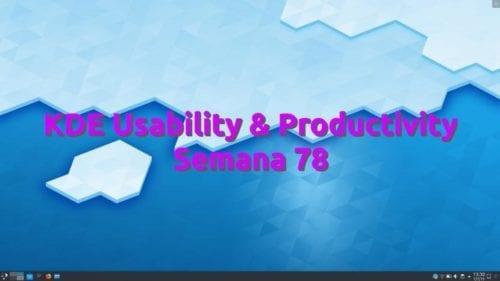 KDE Usatility & Productivity semana 78