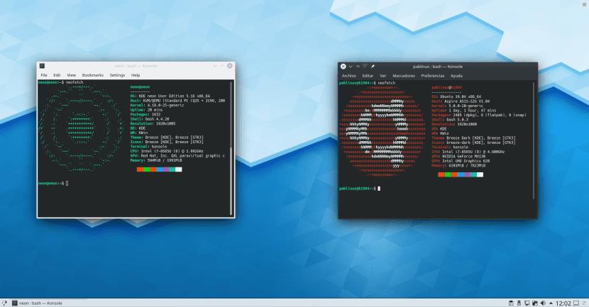 Neon y Kubuntu