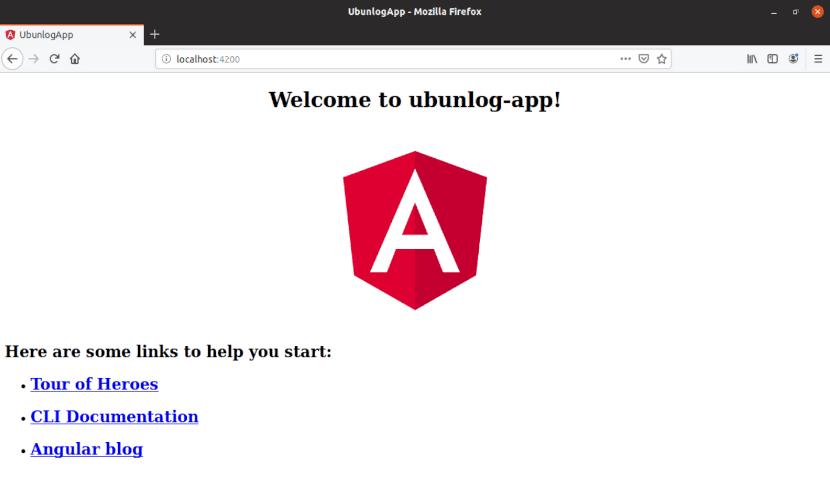 aplicación Angular CLI en el navegador web